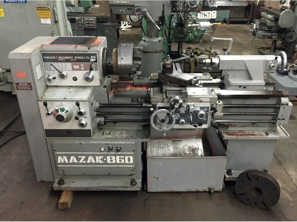 lathes mazak tool room gap bed engine lathe